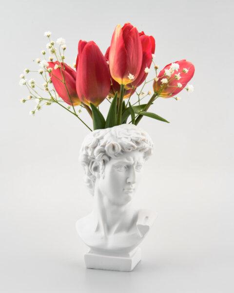 Декорация глава-ваза във формата на римски бюст Mithras и Flora