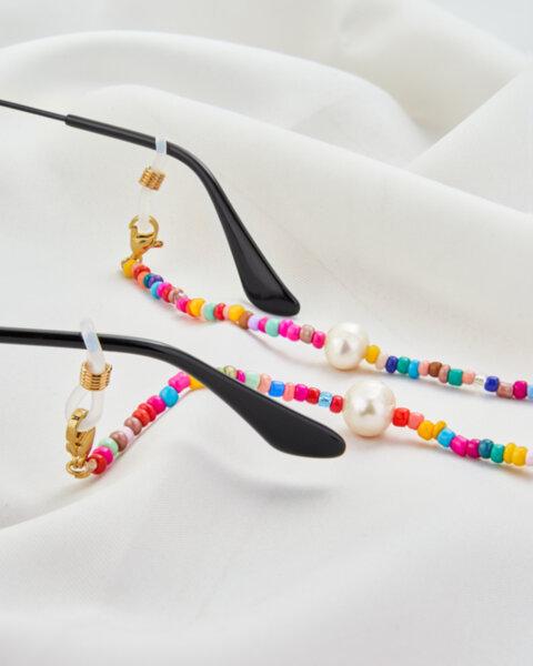 Верижка за очила или защитна маска с мъниста