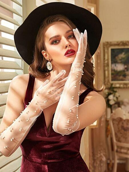 Ръкавици с перли Grace Meets Audrey