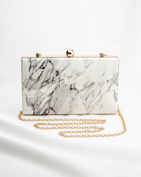 Чанта-клъч с мраморен ефект Anywhere With You