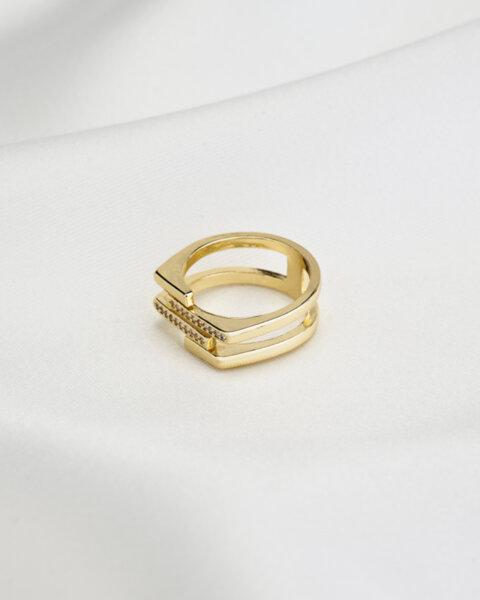 Регулируем пръстен с камъни Naughty girl