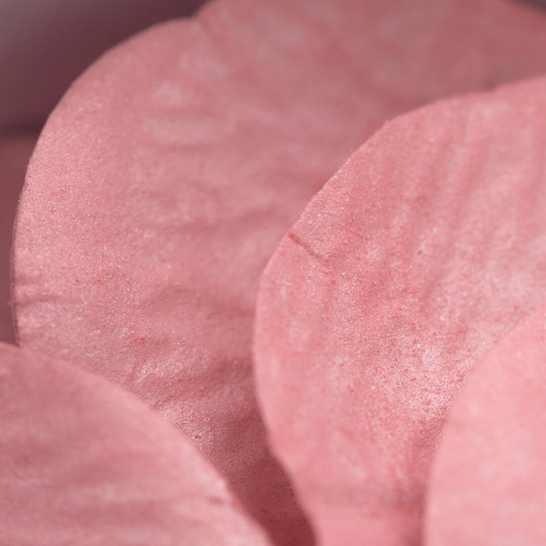 Розов руж и хайлайтър за лице с дизайн листа от роза в биоразградима кутийка