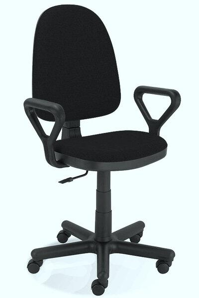 Работен стол PRESTIGE GTS С подлакътници, дамаска, черен