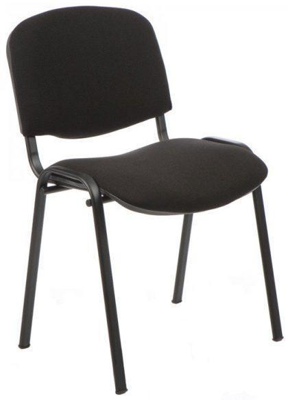 Посетителски стол ISO Black дамаска черен
