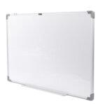 Бяла магнитна дъска Deli Universal E39033A,алуминиева рамка, 90 х 60 см
