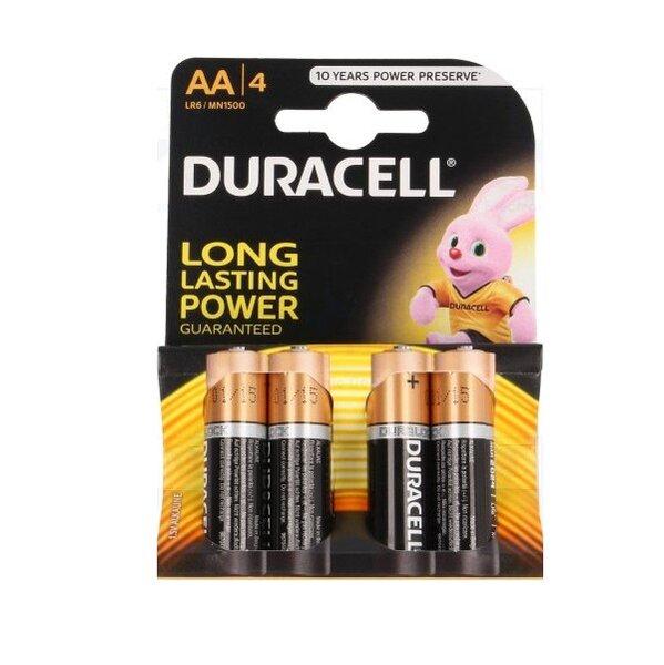 Батерия Duracell 1.5V LR6/AA 4 бр.