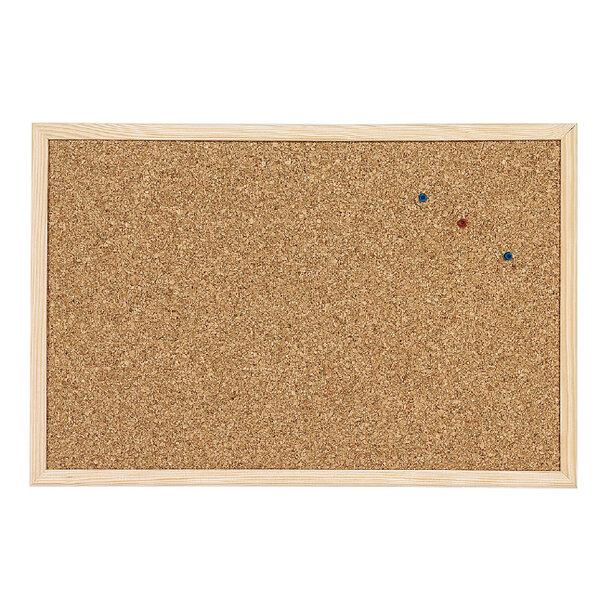 Коркова дъска с дървена рамка, CORK NATURE - 40х60 см.