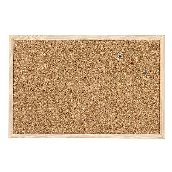 Коркова дъска с дървена рамка - 60х90 см.