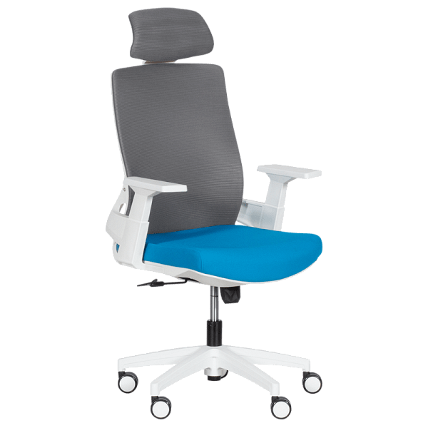 Мениджърски офис стол 7546 - син