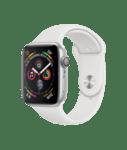 Apple Watch 4 44mm GPS Silver Aluminium White Sport Band