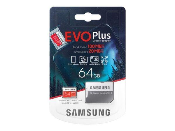 Карта памет Samsung EVO Plus microSD 64GB