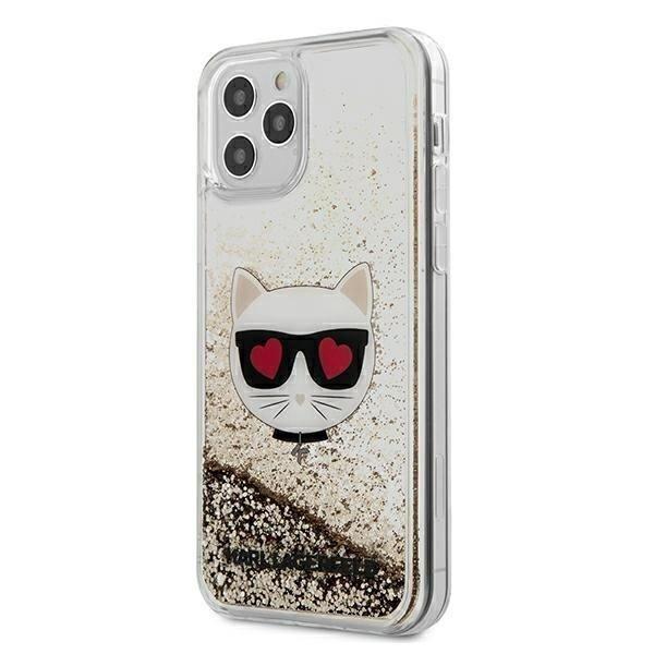 Калъф Original Faceplate Case Karl Lagerfeld KLHCP12LLCGLGO iPhone 12 Pro Max Gold
