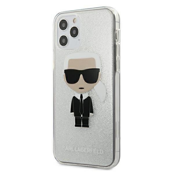 Калъф Original Faceplate Case Karl Lagerfeld KLHCP12LPCUTRIKSL iPhone 12 Pro Max Silver