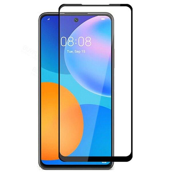 5D Стъклен Протектор Huawei P Smart 2021 Tempered Glass Full Glue Black