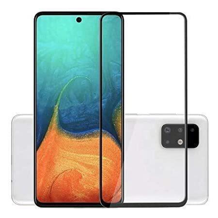 5D Стъклен Протектор Samsung Galaxy Note 10 Lite Tempered Glass Full Glue Black