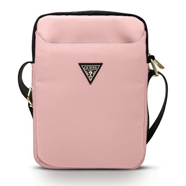 """Чанта за таблет Guess Nylon Triangle Logo GUTB10NTMLLP 10"""" Pink"""