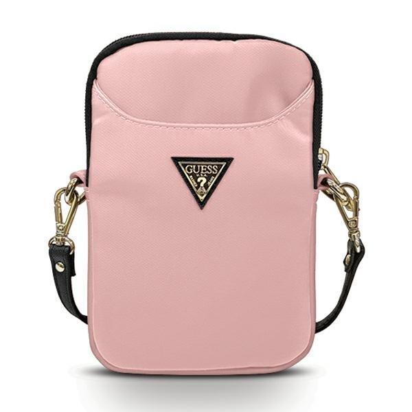 """Чанта за таблет Guess Nylon Triangle Logo GUPBNTMLLP 8"""" Pink"""