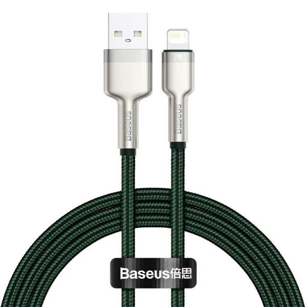 Кабел Baseus Cafule Cable Lightning 1m Green