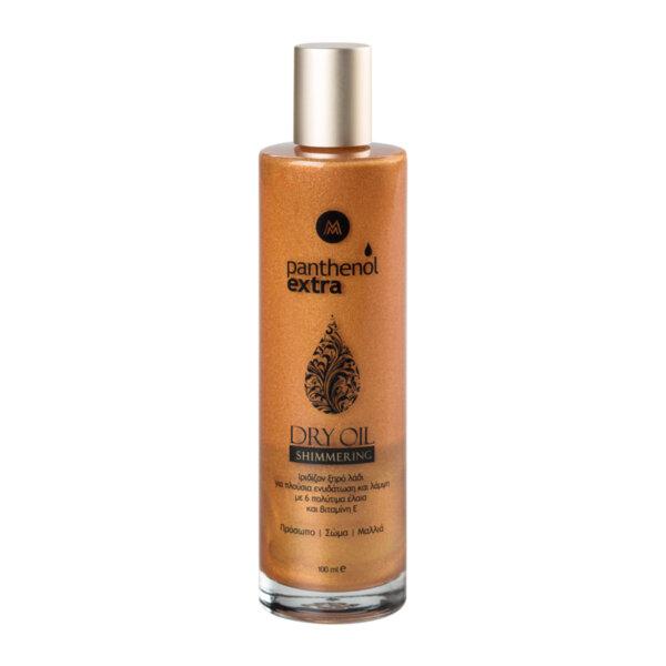 Сухо олио за лице, коса и тяло със златни частици Panthenol Extra Dry Oil, 100ml