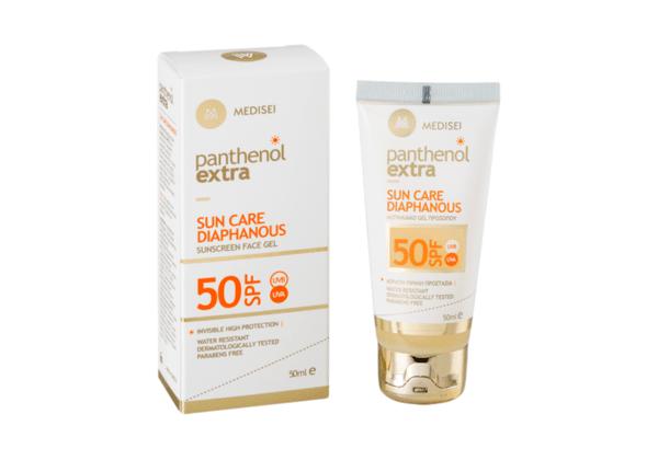Слънцезащитен крем за лице Panthenol Extra SPF50+, прозрачен, 50ml