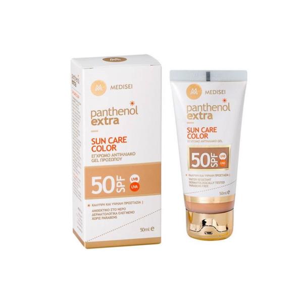 Слънцезащитен крем за лице с фон дьо тен Panthenol Extra, SPF50+, 50ml