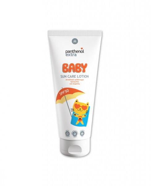 Бебешки слънцезащитен крем за лице и тяло Panthenol Extra Baby SPF50, 200ml