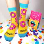 A Pair Of Berry Scented Donut Socks