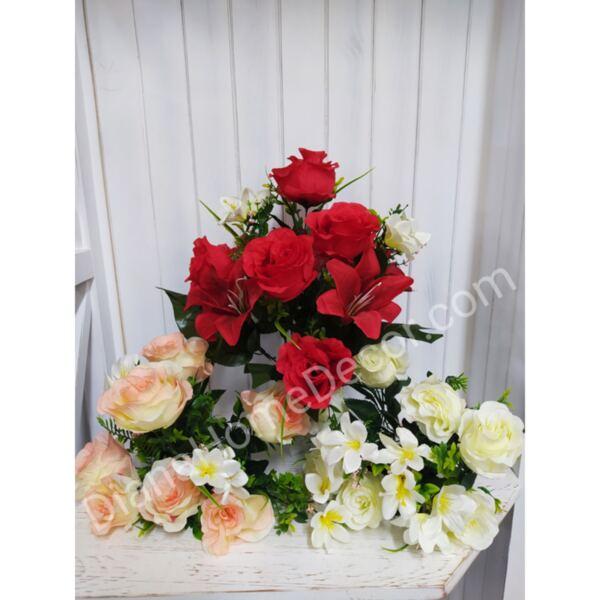 изкуствен букет с рози