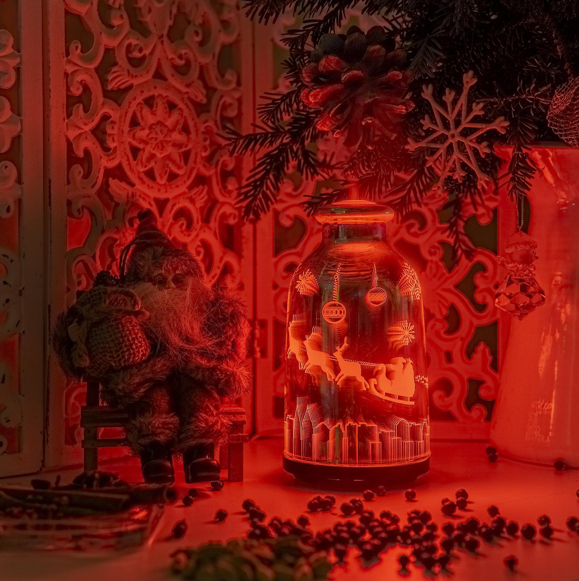 Арома Дифузер Мохана стъкло 3D ефект Дядо Коледа