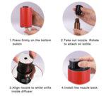 Арома небюлайзер, вградена батерия, преносим, USB, черен-Copy