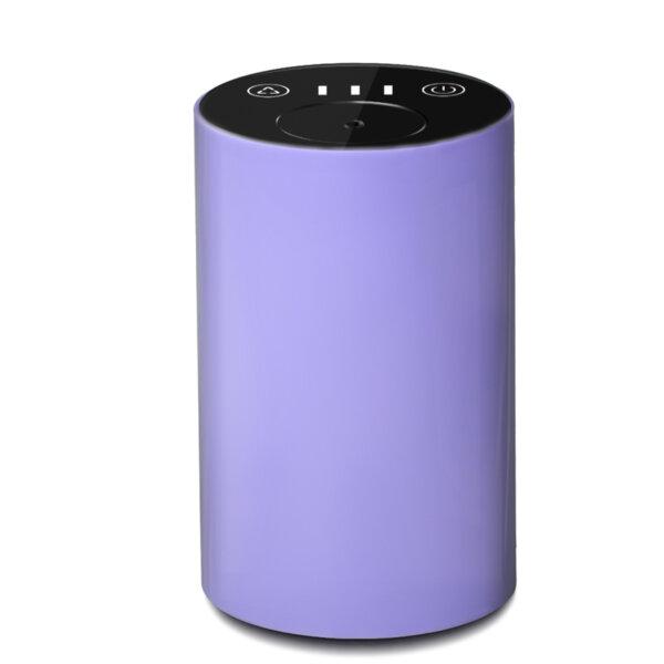 Арома небюлайзер, вградена батерия, преносим, USB, лилав