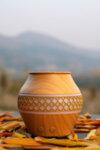 Арома Дифузер Мохана вазичка с декор, светло дърво
