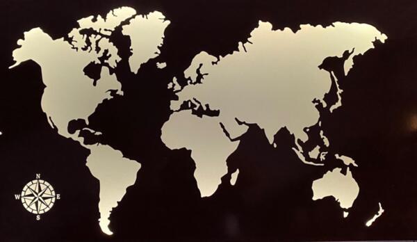 Метални карти на света