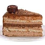 Шоколадова Бисквитка - бисквитена торта с течен шоколад; орехи и шоколадов мус