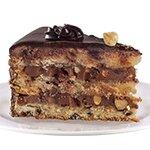 Шоко Лешник - шоколадов мус; бели блатове с парченца шоколад; лешници и стафиди