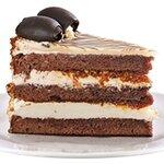 Бяла Неделя - млечен крем; сметана; сиропирани шоколадови блатове и карамелизирани орехи.