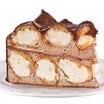 Еклерова шоколад - сърцевина от орехови платки пухкави еклери; млечен крем и шоколадова сметана.