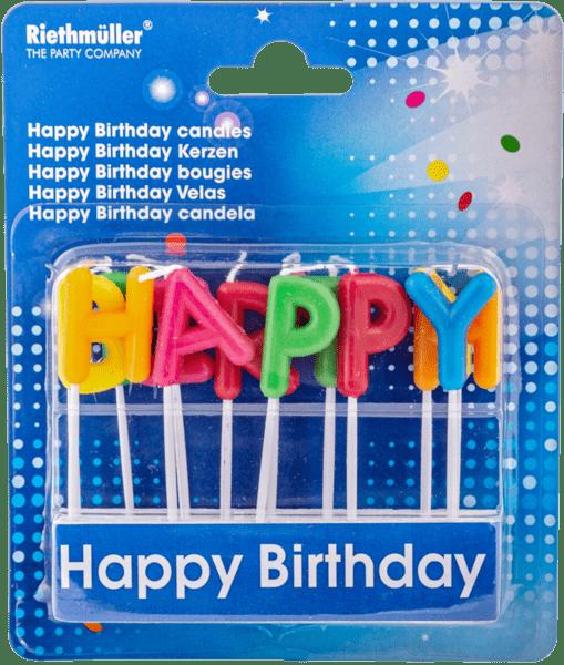 Свещички за торта Happy Birthday