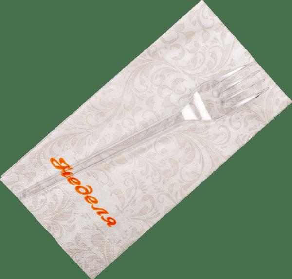 Виличка и салфетка комплект