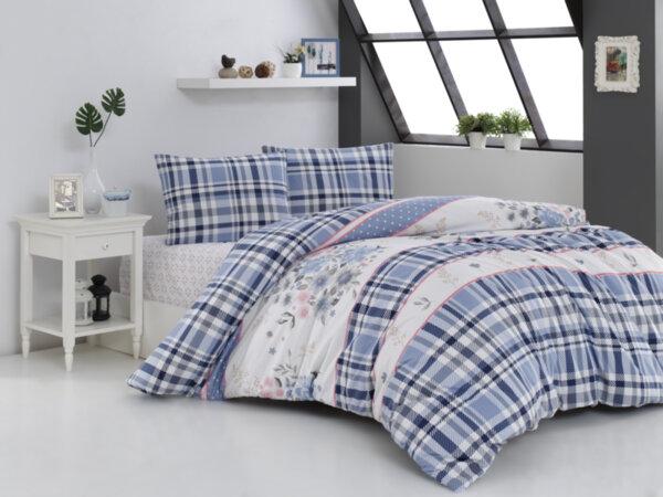 Спален комплект Каре, морско синьо