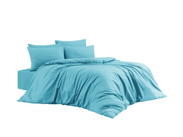 """Ранфорс спален комплект """"Класик"""" 100% памук, ранфорс, цвят петрол"""