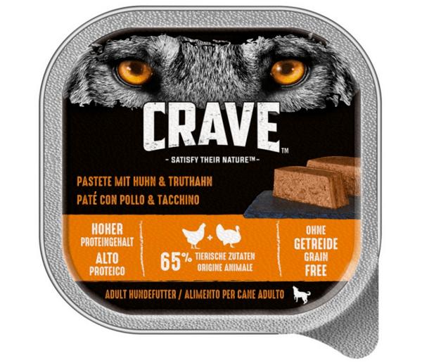 Crave Dog High Protein Pate With Chicken And Turkey - Високо протеинов пастет за кучета без зърнени култури с пиле и пуйка 300 гр.