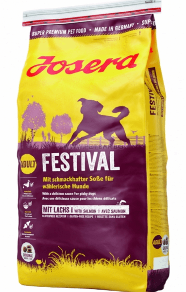 JOSERA Daily Festival With Salmon Dog Food -  Храна със сьомга и пиле за израснали кучета без глутен 15 кг.
