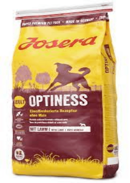 JOSERA Optiness Dog Food - Храна с агнешко и картофи за пораснали кучета от големи породи без царевица 15 кг.