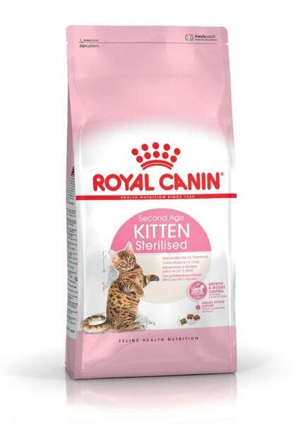 ROYAL CANIN® KITTEN STERILISED - пълноценна суха храна за кастрирани подрастващи котенца от 6 до 12 месеца.