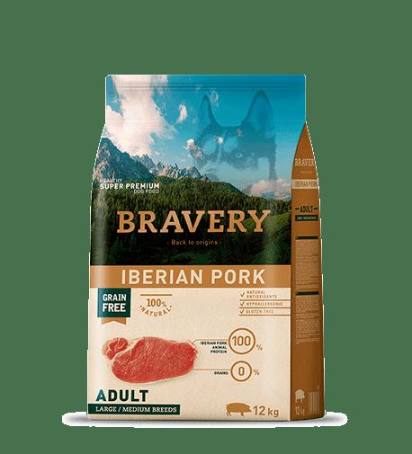 Bravery@ Medium & Large Adult Dog With Iberian Pork - За израснали кучета от средни и едри породи с иберийско свинско.