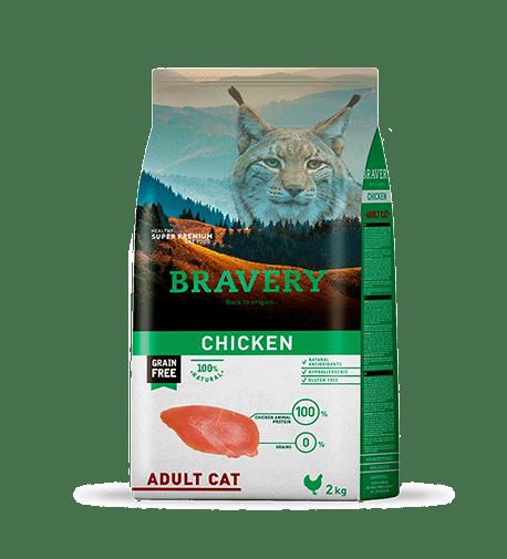 BRAVERY@ CAT ADULT WITH CHICKEN - За израснали котки от всички породи - с пиле.
