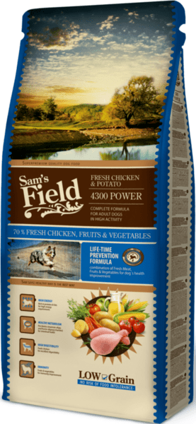 SAM´S FIELD@ Dog Fresh Chicken & Potato 4300 FOR ACTIVE DOGS 13 кг.