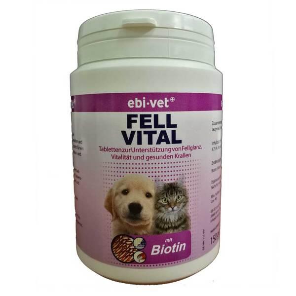 EBI VET Fell Vital - хранителна добавка при кожни заболявания, пърхут, сърбеж, косопад 300 табл.