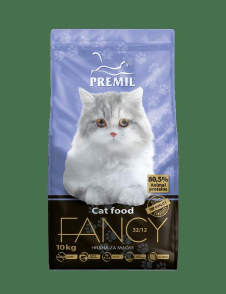 Premil Fancy Cat - суха храна за котки над 1 година с пилешко и патешко месо 10 кг.